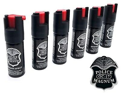 6 Police Magnum pepper spray 12oz ounce safety lock defense security protection