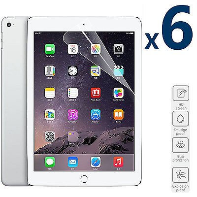 6 Pack HD 9-7 Screen Protector Shield For Apple iPad Air 2  iPad Air 1st