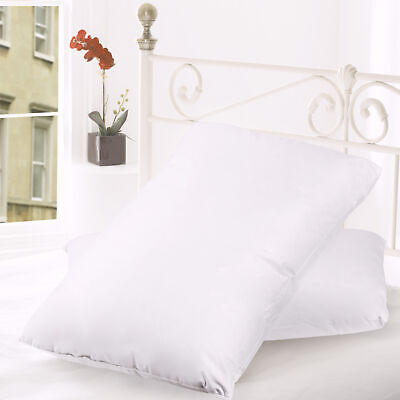 Feather - Down Blend Bed Pillows 100 Cotton Cover 2 Pack Queen King Standard