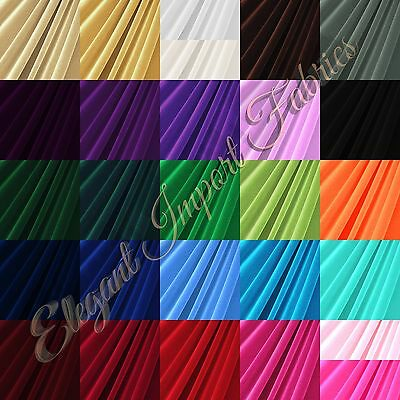 STRETCH VELVET FABRIC COSTUMES CRAFT APPAREL UPHOLSTERS 60W 30 COLOR BY YARD