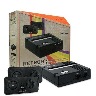 Retron 1 NES System Top Loader BLACK - 2 Controllers Nintendo Console ✔✔NEW ✔✔