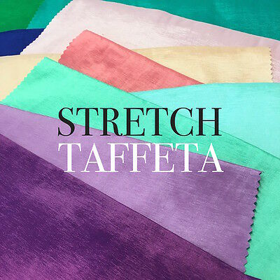 Taffeta Stretch Fabric 2-Way Stretch 58 Wide By The Yard FREE SHIPPING