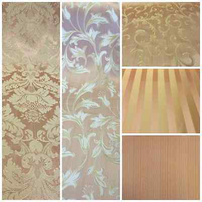 PinkGold Damask Jacquard Brocade Fabric 118 By the Yard Many Design
