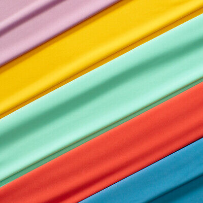 ITY Fabric Polyester Lycra Knit Jersey 2 way Spandex Stretch 58 BTY All Colors