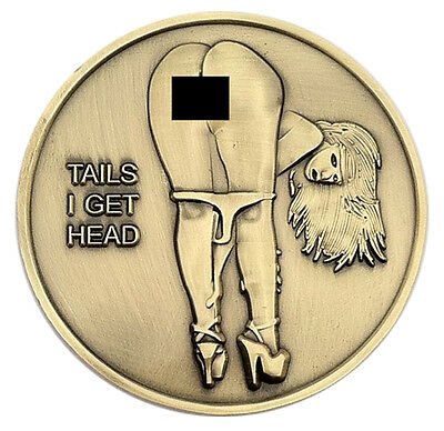 PinUp Babe Good Luck Heads - Tails Challenge Coin Art US SELLER FAST SHIPPING