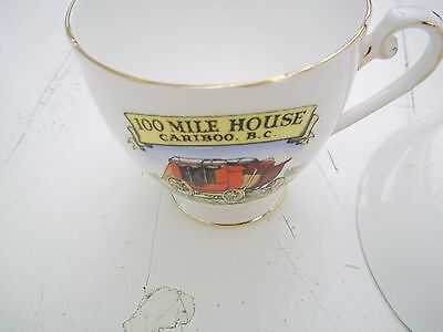 VINTAGE TEACUP - SAUCER - ROYAL GRAFTON - 100 MILE HOUSE - CARIBOO B-C-