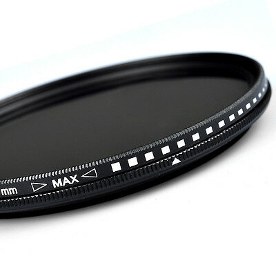 ZOMEI 5255586267727782mm Adjustable Neutral Density Fader  filter ND2-400