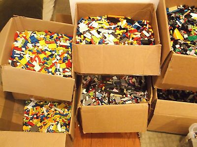 Clean 100 Genuine LEGO 5 LB Lots pounds Bulk Lot Cleaned Sanitized