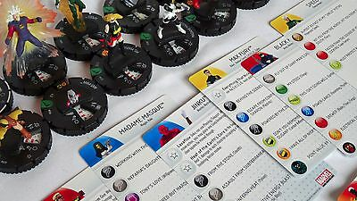 CHAOS WAR HeroClix Complete Uncommon Set 016-029 wStat Cards