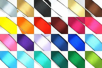 25 Yard Satin Ribbon Rolls in 24 Colors Sizes 14 38 12 58 34 - 1