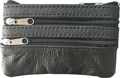 Men Woman Genuine Leather Coin Purse Cowhide Change Purse Coin Pouch Key Ring