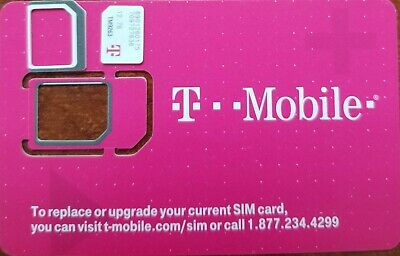 NEW TMobile 4G LTE Sim Card Unactivated-  3 IN 1 TRIPLE CUT SIM- for Replacement