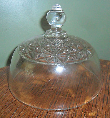 EAPG Antique Pattern Glass ELSONS HOBNAIL BUTTER DISH LID Only Daisy