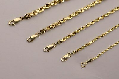 BRAND NEW 14K Yellow Gold 2mm-5mm Italy Rope Chain Twist Link Necklace 16 - 30
