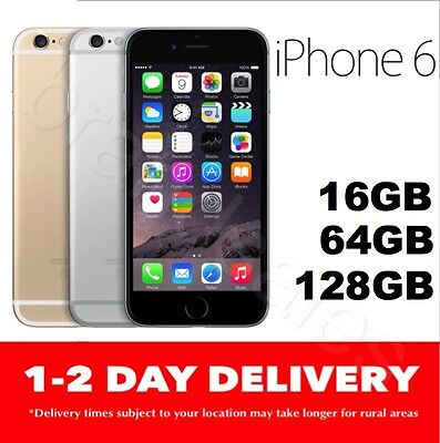 AS NEW APPLE iPHONE 6 16GB 64GB 128GB 100 UNLOCKED GOLD SILVER SPACE GREY MR