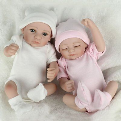 Real Life Baby Dolls Full Vinyl Silicone Baby Doll Twins Boy Girl Birthday Gifts