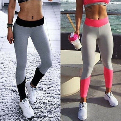 Mode Damen Sport Leggings Tights Laufhose Fitnesshose Yoga Gym Leggins Gr S/M/L