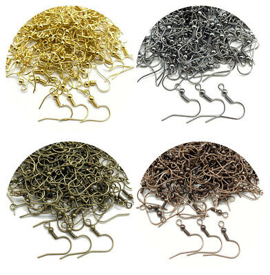 Wholesale Lots 100PCS Earring Hook Coil Ear Wire For Jewelry Making Findings