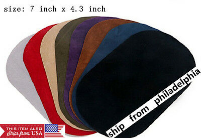 patfaux Suede Leather Iron-on Oval Elbow Knee Patches DIY Repair Sewing Applique