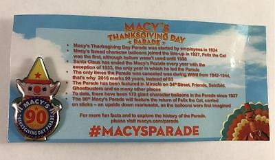 NEW Macys 90 Years Thanksgiving Day Parade Pin Collectible