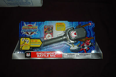 NEW 2013 Bandai Digimon Fusion Shoutmons Battle Mic WSounds Extends up to 20