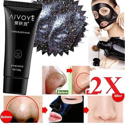 2x packs 50 ml Shills deep Cleansing Black MASK peel-off Facial Clean Blackhead