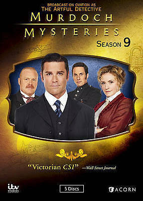 Murdoch Mysteries Season 9 DVD 2016 5- Disc Set- NEW FREE SHIPPING-