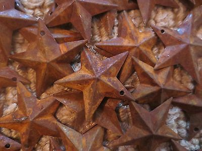 Lot of 100 Rusty Barn Stars 1-5 inch Rustic Primitive Country Rusted Dimensional