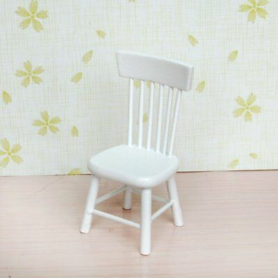 5pcs 112 Wooden Kitchen Dining Table Chair Set Barbie Dollhouse Furniture White