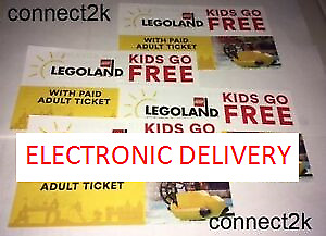 KID CHILD GO FREE wpaid Adult Legoland Florida Email Code in MINS Exp 6302018
