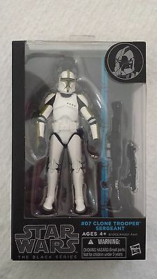 Star Wars CLONE TROOPER SERGEANT 6 inch action figure The Black Series 07