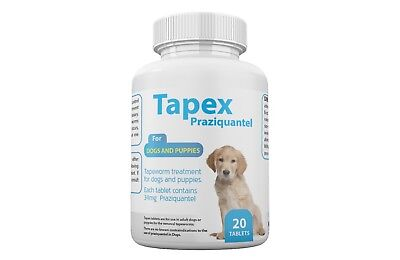 Tapex Dewormer 20 Tablets Tapeworm for  Dogs similar to Droncit Tradewinds