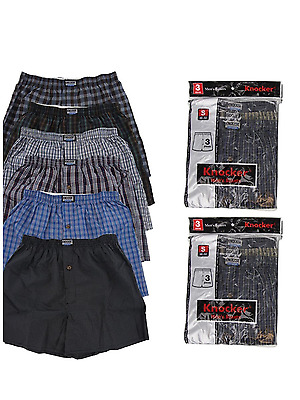 3 6 12 Men knocker boxer Plaid Shorts Underwear pairs Size S-3XL 6-85-27-75 lot