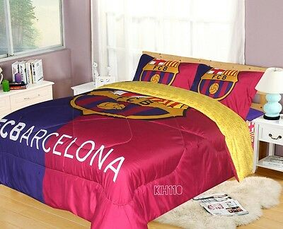 Officially Licensed FC Barcelona Soccer  Bedding Comforter Set