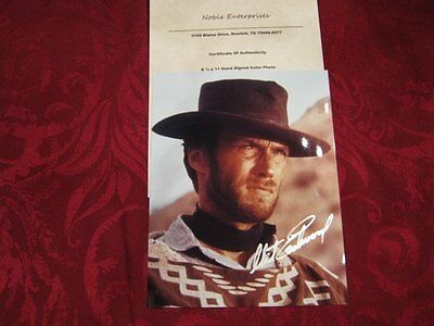 CLINT EASTWOOD - WESTERN POSE - HAND SIGNED AUTOGRAPHED PHOTO WITH COA