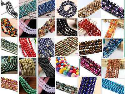 4mm 6mm 8mm 10mm Wholesale Natural Gemstone Round Spacer Loose Beads Free Ship