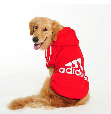 Dog Hoodie Soft Cotton Puppy Jacket Coat  Outdoor Clothes For Medium Dogs