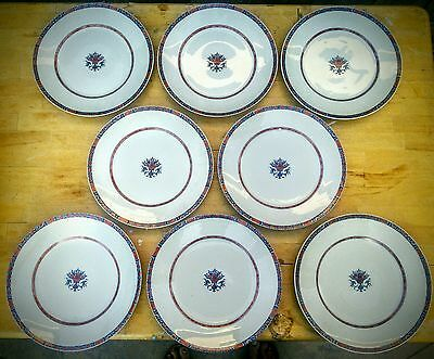8 LIMOGES RAYNAUD CERALENE ROUEN JUMIEGES CELADON DINNER PLATES 10 34in