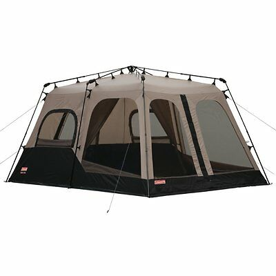 COLEMAN 8-Person 2-Room 14x10 INSTANT TENT -BLACK  NEW Sealed