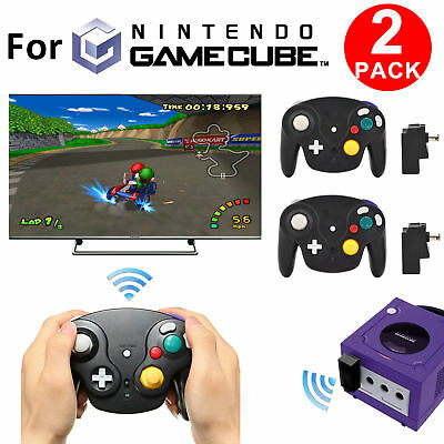 2 Packs 2-4G Wireless Game Controller Receiver Console for Nintendo GameCube NGC