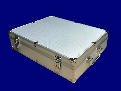Storage - Display Aluminum Frame Box Case Holds 100 PCGS NGC Coin Holders Slabs