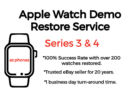 Apple Watch Demo  Retail Mode Removal Repair 38mm - 42mm Series 3 - Series 4