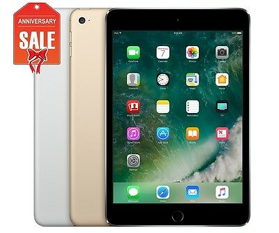 Apple iPad mini 4th Wifi Unlocked 16GB 64GB 128GB 7-9in - Gray Silver Gold R-D