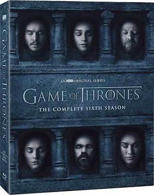 Game of Thrones The Complete Sixth Season 6 DVD 2016
