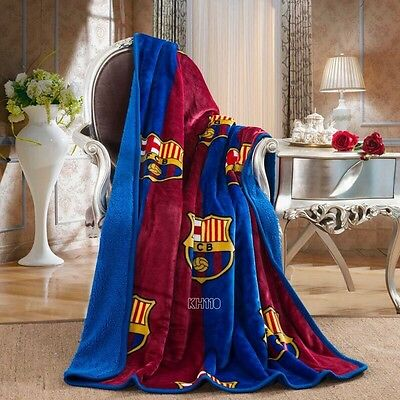 FC Barcelona Luxury Sherpa Throw Blanket 50x60