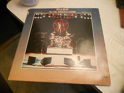 RUSH ALL THE WORLDS A STAGE 2 LP ORIGINAL NICE