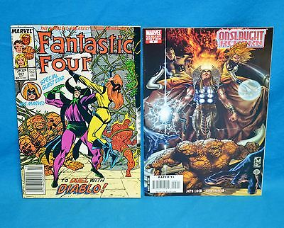 Lot of 2 Marvel Comics w Fantastic Four 307 w Ms- Marvel - Onslaught Reborn 5