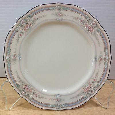 Noritake Rothschild 1 Bread Butter Plate Pink Floral Baroque Blue Band China