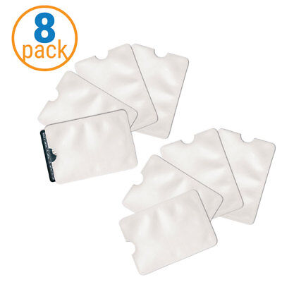 8 Pack of Safety Sleeves RFID Protectors Credit Card - Identity Theft Protection