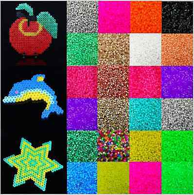 1000pcs Candy Color Plastic Hama Perler Beads For Educate Kids Child Gift